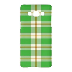 Abstract Green Plaid Samsung Galaxy A5 Hardshell Case  by BangZart