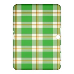 Abstract Green Plaid Samsung Galaxy Tab 4 (10 1 ) Hardshell Case  by BangZart