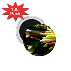 Bright Peppers 1 75  Magnets (100 Pack)  by BangZart