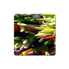 Bright Peppers Square Magnet