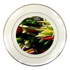 Bright Peppers Porcelain Plates by BangZart