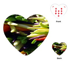 Bright Peppers Playing Cards (heart)  by BangZart