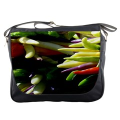 Bright Peppers Messenger Bags by BangZart
