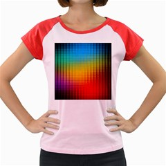 Blurred Color Pixels Women s Cap Sleeve T Shirt by BangZart