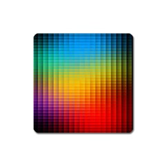 Blurred Color Pixels Square Magnet by BangZart