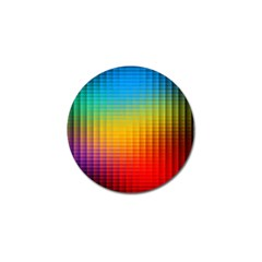 Blurred Color Pixels Golf Ball Marker (10 Pack) by BangZart