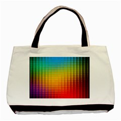 Blurred Color Pixels Basic Tote Bag by BangZart