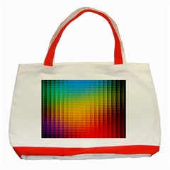 Blurred Color Pixels Classic Tote Bag (red) by BangZart