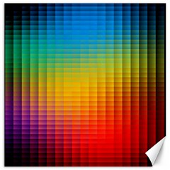 Blurred Color Pixels Canvas 12  X 12   by BangZart