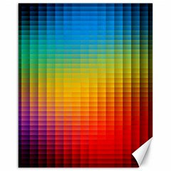 Blurred Color Pixels Canvas 16  X 20   by BangZart