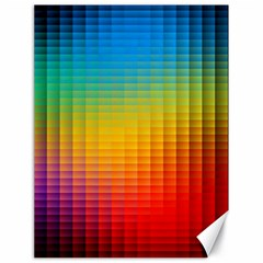 Blurred Color Pixels Canvas 18  X 24   by BangZart
