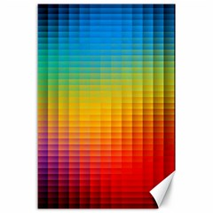Blurred Color Pixels Canvas 24  X 36  by BangZart