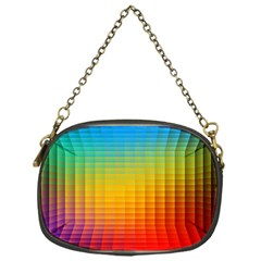 Blurred Color Pixels Chain Purses (one Side)  by BangZart