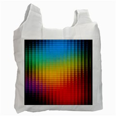 Blurred Color Pixels Recycle Bag (one Side) by BangZart