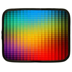 Blurred Color Pixels Netbook Case (xl)  by BangZart