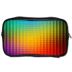 Blurred Color Pixels Toiletries Bags by BangZart