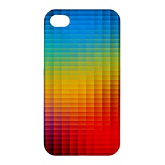 Blurred Color Pixels Apple Iphone 4/4s Premium Hardshell Case by BangZart
