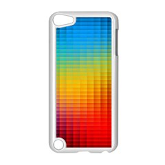 Blurred Color Pixels Apple Ipod Touch 5 Case (white) by BangZart