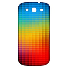 Blurred Color Pixels Samsung Galaxy S3 S Iii Classic Hardshell Back Case by BangZart