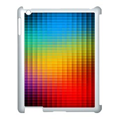 Blurred Color Pixels Apple Ipad 3/4 Case (white) by BangZart
