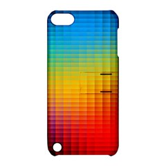 Blurred Color Pixels Apple Ipod Touch 5 Hardshell Case With Stand by BangZart