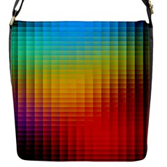 Blurred Color Pixels Flap Messenger Bag (s)