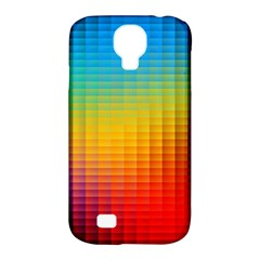 Blurred Color Pixels Samsung Galaxy S4 Classic Hardshell Case (pc+silicone)