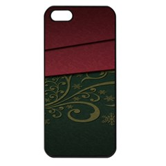 Beautiful Floral Textured Apple Iphone 5 Seamless Case (black) by BangZart