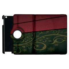 Beautiful Floral Textured Apple Ipad 3/4 Flip 360 Case by BangZart