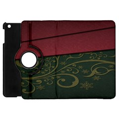 Beautiful Floral Textured Apple Ipad Mini Flip 360 Case by BangZart