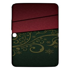 Beautiful Floral Textured Samsung Galaxy Tab 3 (10 1 ) P5200 Hardshell Case  by BangZart