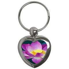 Pink Lotus Flower Key Chains (heart)  by BangZart