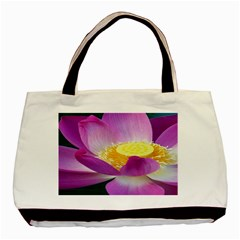 Pink Lotus Flower Basic Tote Bag by BangZart