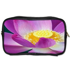 Pink Lotus Flower Toiletries Bags by BangZart