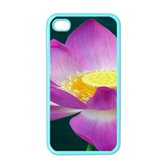 Pink Lotus Flower Apple Iphone 4 Case (color) by BangZart