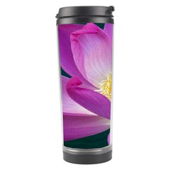 Pink Lotus Flower Travel Tumbler by BangZart