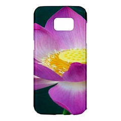 Pink Lotus Flower Samsung Galaxy S7 Edge Hardshell Case by BangZart