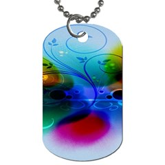 Abstract Color Plants Dog Tag (two Sides) by BangZart