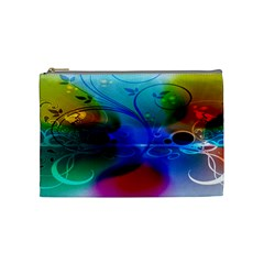 Abstract Color Plants Cosmetic Bag (medium)  by BangZart