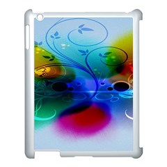 Abstract Color Plants Apple Ipad 3/4 Case (white) by BangZart