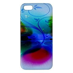 Abstract Color Plants Apple Iphone 5 Premium Hardshell Case by BangZart