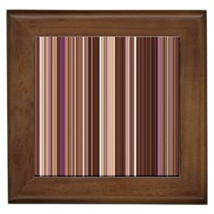 Brown Vertical Stripes Framed Tiles