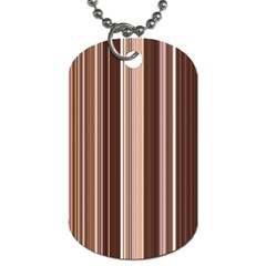 Brown Vertical Stripes Dog Tag (two Sides) by BangZart