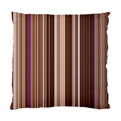 Brown Vertical Stripes Standard Cushion Case (two Sides) by BangZart