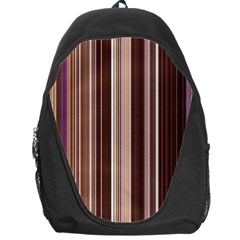 Brown Vertical Stripes Backpack Bag by BangZart