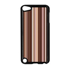 Brown Vertical Stripes Apple Ipod Touch 5 Case (black) by BangZart