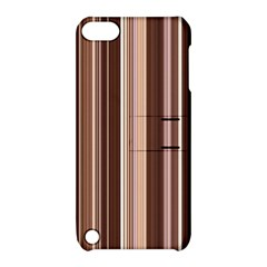 Brown Vertical Stripes Apple Ipod Touch 5 Hardshell Case With Stand by BangZart