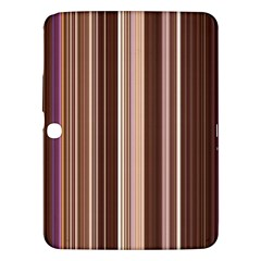 Brown Vertical Stripes Samsung Galaxy Tab 3 (10 1 ) P5200 Hardshell Case  by BangZart