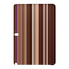 Brown Vertical Stripes Samsung Galaxy Tab Pro 12 2 Hardshell Case by BangZart