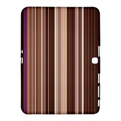 Brown Vertical Stripes Samsung Galaxy Tab 4 (10 1 ) Hardshell Case  by BangZart